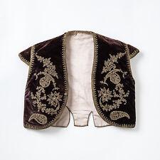 Antique Turkish Childs Ottoman Waistcoat. Circa 1900. Goldwork on Velvet.