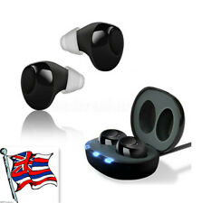 UK Invisible Ear Hearing Aids Digital Mini Enhancer Sound Voice Amplifier 1 Pair