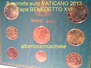 coffret BU VATICAN 2013 8 pièces 3,88 EURO Vaticano Vatikan fdc KMS Benoit XVI