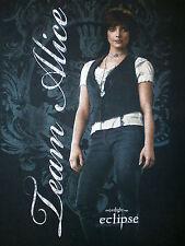 TWILIGHT TEAM ALICE T SHIRT Vampire Saga Eclipse Cullen Ashley Green SMALL