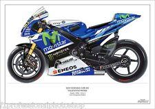 Valentino Rossi  2014 ltd.ed. art print/250 Yamaha YZR-M1