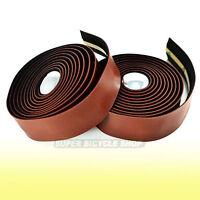 VELO Synthetic Leather Road Bike Handlebar Tape Wrap+Plugs , Brown
