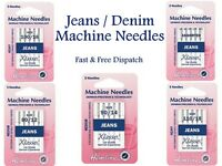 Hemline Klasse Jeans Sewing Machine Needles Medium Heavy Asorted Denim All Sizes