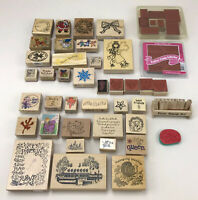 Lot of Rubber Stamps - Stampin' Up, PSX, Embossing Arts Holiday Christmas Etc