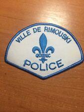 VINTAGE PATCH POLICE CANADA - VILLE DE RIMOUSKI - ( QUEBEC ) - ORIGINAL!