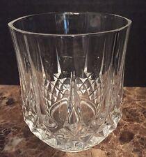 Cristal D'Arques Longchamp Set Of 4 Double Old Fashion Rocks Glasses