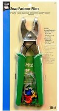DRITZ SNAP FASTENER PLIERS 10 Count #16P new FREE SHIP