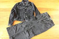 Cooler Anzug, schwarzer Cord, Gr. 26 Hose, Gr. M Jacke, tolle Details