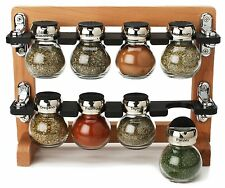 Olde Thompson 8 jar spice rack en bois, 25-606