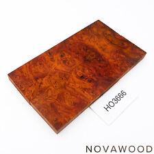 ROTES AMBOINA MASER MESSER SCHALENPAAR HOLZ SCALES AMBOYNA BURL SCALES HO3666