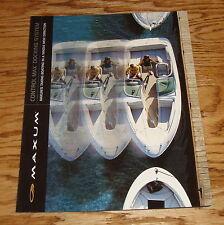 Original 2001 Maxum Boat Control Max Docking System Foldout Sales Brochure 01