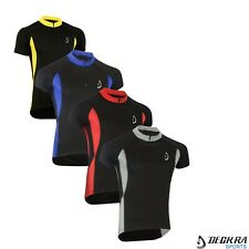 Deckra Mens Cycling Jersey Half Sleeves Breathable Bike Top Racing Cycling Shirt