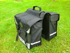 ABUS Fahrradtaschen für Gepäckträgerbefetigung, 2x50 Liter, schwarz, sehr stabil