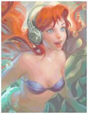 Disney Ariel Found Headphones L. Ed.  Sakimichan Collection X-Stitch Pattern CD