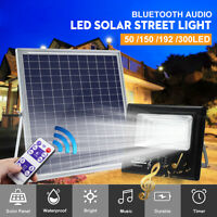 100/192/300 LED Waterproof Solar Power Light bluetooth Speaker Outdoor
