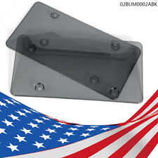 2PC Smoke Flat License Plate Cover Shield Tinted Plastic Tag Protector -New