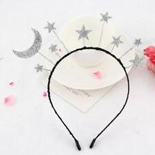 Princess Girl Halloween Party Crown Headband Glitter Powder Moon Star Hair Hoop