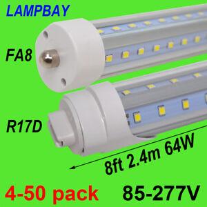 V Shape LED Tube Lights 8 feet  FA8 R17D HO Bulb 270 Angle F96 Super Bright Lamp