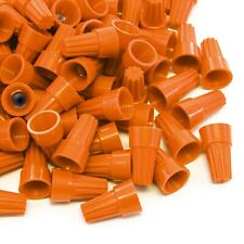 200 pcs Orange Screw On Wire Electrical Connectors Twist-On Easy Screw Pack