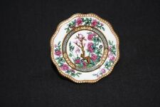 Coalport Broach Colorful Plate Miniature Made In England
