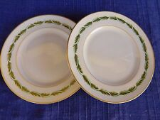 Franciscan Arcadia Green BREAD PLATES -SET of TWO (2) *have more items to set*