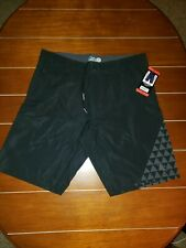 "Da Hui Hybrid Stretch Board Shorts NWT *New Model"" Light, Pockets Size 34 Black"