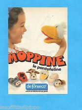 TOP985-PUBBLICITA'/ADVERTISING-1985- DE FONSECA - MOPPINE LE PANTOFOLINE