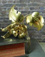 Vintage Harry Iskin Gold over Sterling Silver Floral Flower Pin/ Brooch