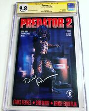 CGC SS 9.8 Predator 2 #1 signed by Bill Paxton movie adaptation photo cover