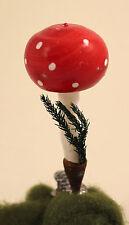 Christbaumschmuck FLIEGENPILZ auf Zwicker um 1930 mushroom Weihnachtsschmuck #2