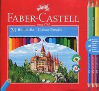 Faber-Castell Farbstifte Mit 3 Zweifarbig Bleistift + Schärfer - Packung 24
