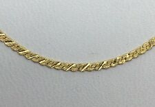 14K YELLOW GOLD TEXTURED SERPENTINE CHAIN 20""