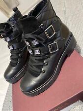 Carvela Ladies Treasure Black Leather Ankle Boot UK 6/Eur 39