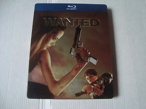 WANTED 1st Edition *RARE* DEBOSSED blu-ray SteelBook MM exclusive Angelina Jolie