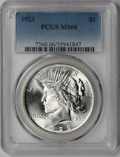 1923 $1 PCGS MS 66 (White) Peace Silver Dollar