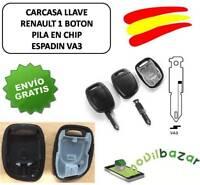 LLAVE CARCASA RENAULT R1 CLIO SCENIC TWINGO MEGANE I II 1 BOTON VA3 PILA EN CHIP
