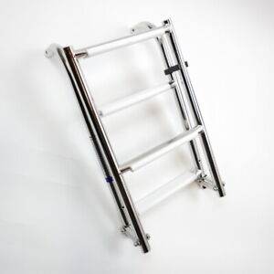 Folding Boarding Ladder 316 Stainless Steel 4 steps for Marine Boat By MiDMarine