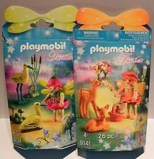 Playmobil Fairies 9138 9141 Fairy with Storks & Deer Set of 2 NEW In Sealed Box