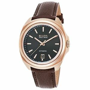 Bulova 64B126 Men's Accu-Swiss Telc Rose-Tone Automatic Watch