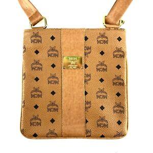 Woman's MCM Munchen Style MESSENGER Shoulder Bag Brown Casual