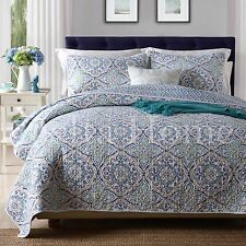 Vintage Cotton Quilt Bedspread Coverlet Throw Rug-3pcs Queen King Size
