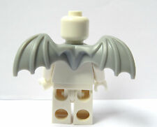 Lego Grey Wings Wing    Minifigure Not Included  Gargoyle  Series Halloween