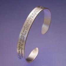 What Lies Within Bracelet Bangle Cuff Inspire Message STERLING SILVER Emerson
