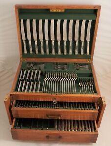 ROYAL YORK Design JAMES DIXON & SONS Silver Service 133 Piece Canteen of Cutlery