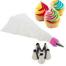 5pcs Cake Cupcake Icing Piping Nozzles Tips Decorating Bag Kitchen Tool