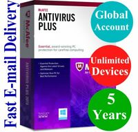 McAfee Antivirus Plus UNLIMITED DEVICE 5 YEAR (Account Subscription) 2021