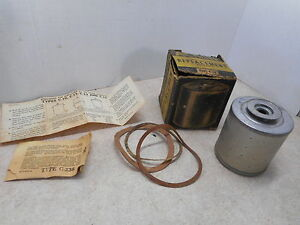 AC Kleer Kleen C-14 Oil Filter Element, NOS, Original Box, 1950-65 Porsche 356