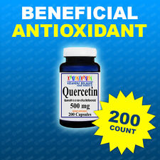 Quercetin 500mg 200 Caps Heart Healthy Quality, Purity- Made In USA  Facility