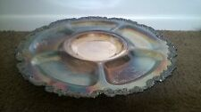 Large Silver Plate Lazy Susan Serving Tray