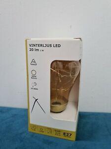 VINTERLJUS LED bulb E27 20 lumen, gold-colour2500 K